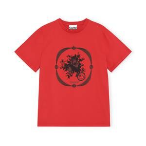 Bilde av Ganni Basic Cotton Jersey High Risk Red
