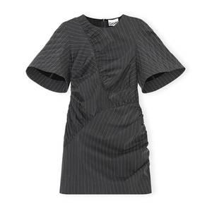 Bilde av Ganni Stretch Stripe Dress Phantom