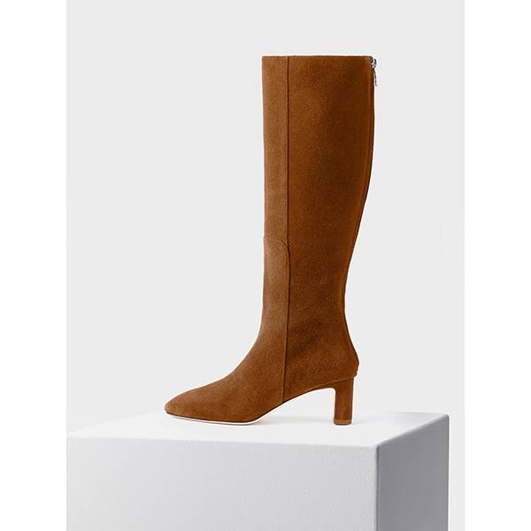 Aeyde Taylor Knee High Boot Brandy