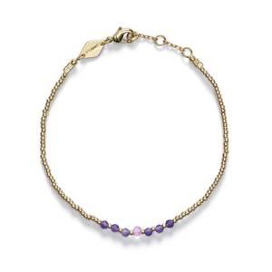 Bilde av Anni Lu Bead & Gem Bracelet Pink Lavender